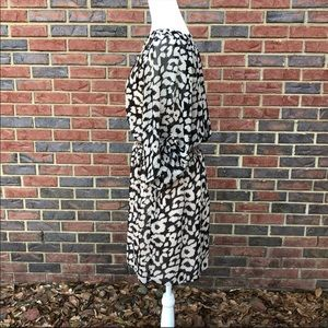 Express Dresses - Express Black Cream Animal Print Dress  L